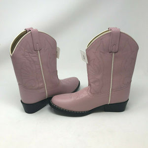 NEW Masterson Pink Leather Cowboy Boots 2